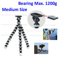 Free shipping Medium Magic Flexible Tripod/Gorillapod for SLR & Video Camera and Camcorder with retail packing Bearing 1200g Max