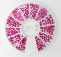 720pcs/wheel nail art pure color rhinestones