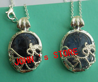 Freeshipping wholesale 20pc a lot Free Shipping Vampire Diaries Katherine  Necklace  Nature Stone Pendant BB37