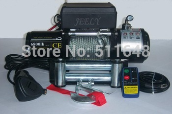 Free shipping 12V 6800LB SUV/4X4/4WD Electric Winch