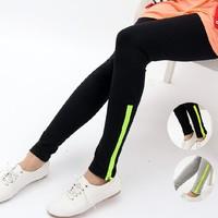 Fluorescent color zipper leggings Free Shipping W3016