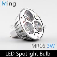 3W LED spotlight MR16 DC AC12V aluminum led bulb lamp for home lighting, 4pcs/lot