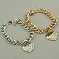 2014 Latest Style Hot Sales Brand Jewelry Accessories Metal Crystal Bracelet  Jewelry For Women B2-216