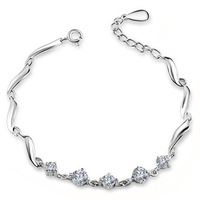 OR00462B Austria Crystal Bracelet,Copper Material with 3 Layer Platinum Plating,Perfect Polished,High Quality