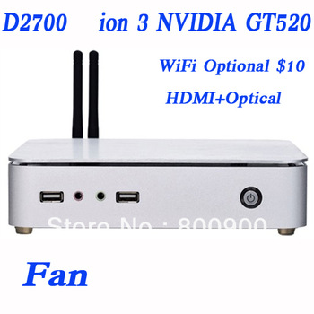 Industrial pc box workstation thin clients box with ion 3 NVIDIA GT520 2G RAM 80G HDD or 16G SSD windows 7 linux wifi IN-D270T