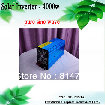 Solar inverter 4000w DC to AC power inverter pure sine wave for solar power system use