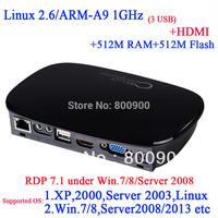 FL300 RDP 2014 best linux 2.6 thin clients with HDMI RDP 7.1 1920*1080 512M Ram 512M flash ARM-A9 Processor 1Ghz  Multi-language