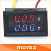 Car Red Blue LED YB27-VA 0-100V/10A Motorcycle Digital DC Amp Meter Volt Gauge Ammeter Voltmeter 2-in-1 #100014
