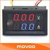 YB27VA DC 100V 100A  2in1 Volmeter Ammeter Dual Red Blue LED Digital Display Voltage Ampere Meter