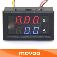 YB27VA 100A Digital Ammeter Voltmeter 2-in-1 0-100V DC Volt Voltage Ampere Meter Red/Blue LED Dual Color Display #100016