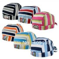 New 2013 Baby Pirate Hat Children Caps Autumn Summer Fashion Doorag Elastic Lacing Beanies Infant Striped hats (10 pcs/lot)