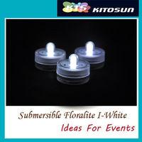 120pcs/lot DHL&FEDEX free shipping  White Submersible led tea light Centerpiece Wedding lights