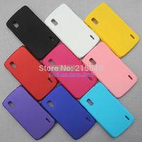 Free Shipping, Hard Matte Case for LG E960 Nexus 4 Google 4, Back Hard Rubber Case, High Quality, LGC-001