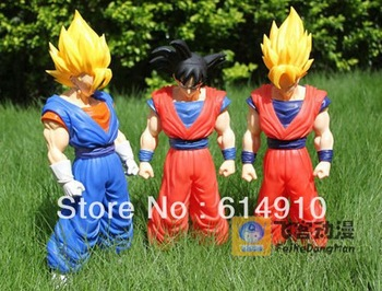 Free Shipping 42cm Dragon Ball Z Son Goku Model Doll Gift King / Vegeta / Super Saiyan Movable Action Figures Toy