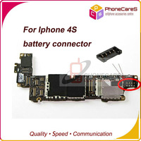 5pcs/lot, Battery FPC connector for iPhone 4S Battery Clip dock on motherboard mainboard ,original new,free shipping