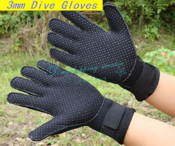 3mm Neoprene Scuba Diving Gloves Anti-Scratch Surfing Skid Sports Gloves Wetsuit Waterproof Winter Swimming Free Shipping(China (Mainland))