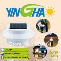 Free shipping Solar gutter light solar fence light