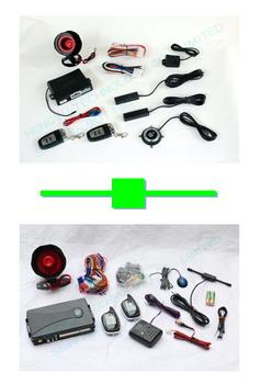 1 pcs push button engine start /PKE car alarm FS-58 keyless go + 1 pcs two way car alarm FM V8 no engine start range:1000 meter