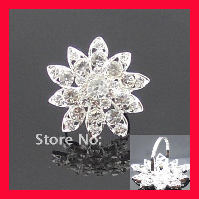 Wholesale ! 200pcs/lot Elegant Flower Napkin Ring ,Rhinestone Holders(China (Mainland))