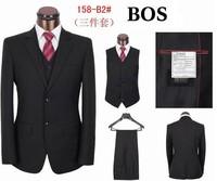 New Arrival branded man business suit, 3 piece wedding suits for men S-4XL coat  vest and pants