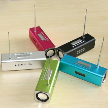 New arrival TT2B Super Mini Portable USB LCD Mp3 Music Player Speaker Music FM TF SD Slot Multimedia Speaker