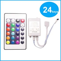 Free shipping DC12V 24 Keys IR Remote Controller for SMD3528 SMD5050 RGB LED Strip lights