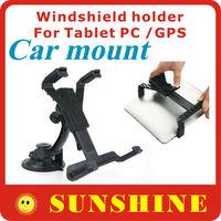 Adjustable  Windshield holder Cradle Bracket Clip Car mount Holder  for ipad Tablet PC MID GPS Car DVR  Free shipping