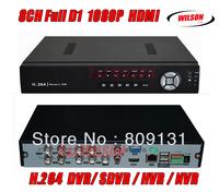 Wilson CCTV 8CH Full D1 H.264 DVR Standalone Super DVR SDVR/HVR/NVR Security System 1080P HDMI Output DVR