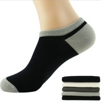 Free shipping hot models bamboo fibers at right angles male boat socks color cuffs, sports and leisure socks