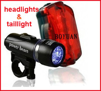 Brand New Bycicle Lights Set  Waterproof Ultra Bright LED Bike Light Front Light & Rear Light Drop/Free Shipping
