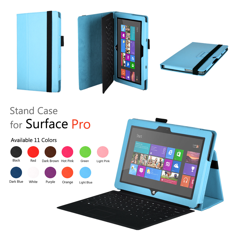 Surface Pro case cover,stand leather case for Microsoft Surface Pro free shipping, 11 colors(China (Mainland))