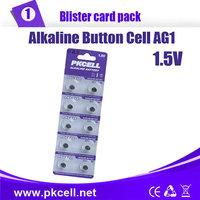 10PCS PKCELL AG1 LR60/164/621 Button Batteries For Watches Batteries