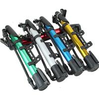 "Hot sale! ""Qixuan"" Mountain bike portable inflator. Aluminum alloy bicycle mini multicolour pump. Free shipping."