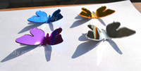 POP-UP figures butterfly 3D wall sticker Mirror wall sticker Freeshipping