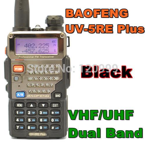 BAOFENG UV-5RE PLUS VHF/UHF Dual Band Radio Two Way Radio Walkie Talkie Handheld Tranceiver Portable HAM & CB & FM Radio(China (Mainland))