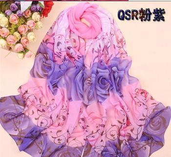 2013 Women's Fashion Long Soft Shawl Stole Silk Chiffon Scarf ladies georgette sunscreen scarve wrap QSR
