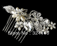 8cm*7cm hot sale 100% guaranteed noble peal +crystal  wedding Hairpins bridal hair  jewelry retail / wholesale