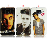 For Samsung Galaxy S II S2 i9100 Super Pop Star Justin Bieber Kiss Hard Plastic Cover Case,DHL Free Shipping