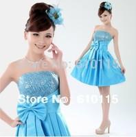 2013 NEW  Evening Dress Bride Dress Short Design  6 Colors
