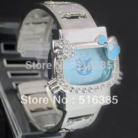 Hello kitty watch steel sheet bracelet watch bracelet HELLO KITTY free shipping Drop shipping 1PCS