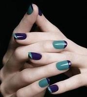French finger patch v line finger applique diy nail art accessories FSZT001