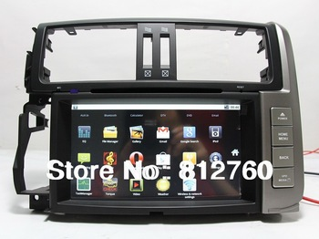 100% Android 2.3 Car dvd player for Toyota Prado 150 Capacitive screen 1G CPU GPS,Radio,IPOD Support Wifi 3G Free shipping!