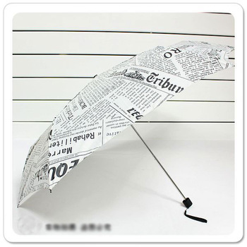 1pcs,creative Newspaper UV pencil umbrella 3 foldings 3 colors rain sun umbrella,Novelty & fashion