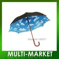 Free shipping/ New Design Straight Umbrella Heaven Printed Umbrella Sky Umbrella