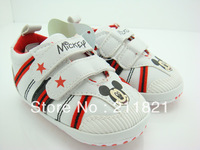 DIB014 baby boy white leather first walkers shoes toddler sneakers shoes size 2 3 4 inUS