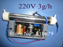 1pc new AC 220V 3g Ozone Generator Ozone Tube DIY 3g/hr for Water Plant Purifier air cleaner,freeshipping(China (Mainland))