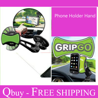 Free Shipping  New GripGo Universal Car Phone Mount Grip Go Holder Hands