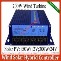 Free Shipping Street Light Controller ,Wind Solar Hybrid System Controller for 200W wind turbine+150W/12V Solar Panel(300W/24V)