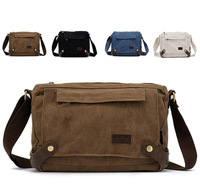 Free shipping 4 colors canvas&leather casual vintage shoulder bags women messenger bag men 2013 new brand bag 00512