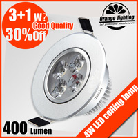 Free shipping 3W 4W led ceiling light CE&Rosh AC85V-265V 400Lumen Cool white/Warm white TaiWan chip 2013 new products
